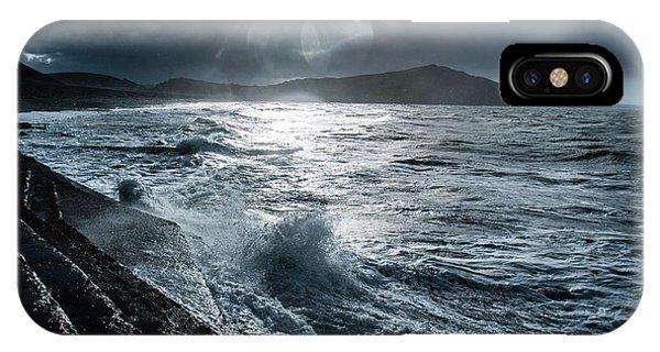 Stormy Seas At Tanybwlch Aberystwyth IPhone Case