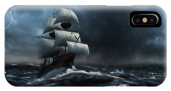 Stormy Seas - Nautical Art IPhone Case