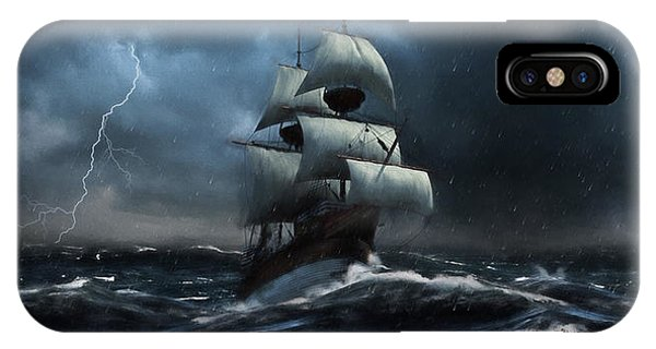Stormy Seas - Nautical Art IPhone Case