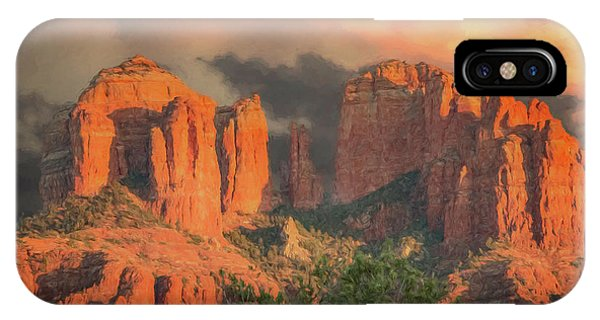 Stormy Sedona Sunset IPhone Case