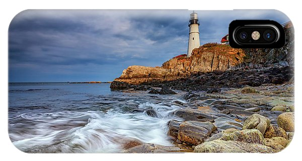 Stormy Skies At Portland Head IPhone Case