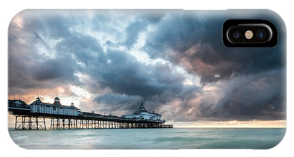 Stormy Sunrise Over Eastbourne Pier IPhone Case