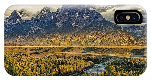 Stormy Sunrise Over The Grand Tetons And Snake River IPhone Case