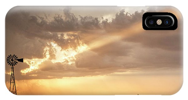 IPhone Case featuring the photograph Stormy Sunset And Windmill 01 by Rob Graham