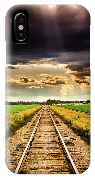 Stormy Tracks IPhone Case