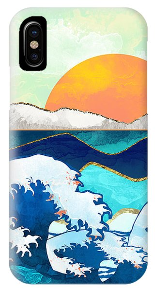 Abstract Landscape iPhone Case - Stormy Waters by Spacefrog Designs