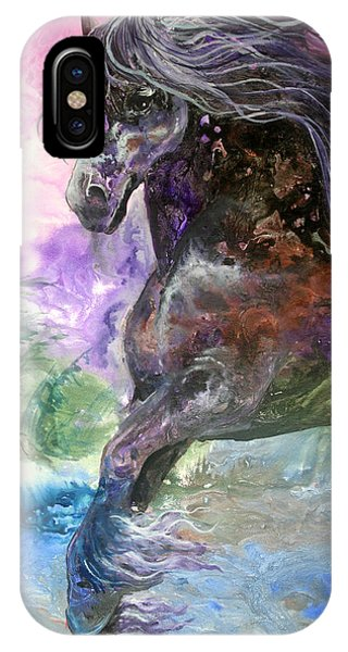 Stormy Wind Horse IPhone Case
