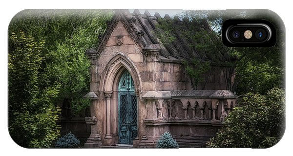 Cemetery iPhone Case - Strader Mausoleum by Tom Mc Nemar