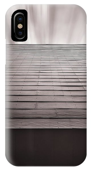 Panel iPhone Case - Straight Line Above by Scott Norris