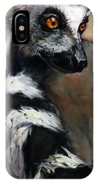 Ring-tailed Lemur iPhone Case - Straight Outta Madagascar by Carrie Cook