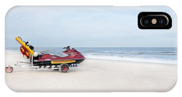 Jet Ski iPhone X Case - Strandbewaking by Hannes Cmarits