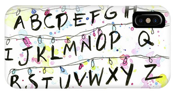 Stranger Things Alphabet Wall Christmas Lights IPhone Case