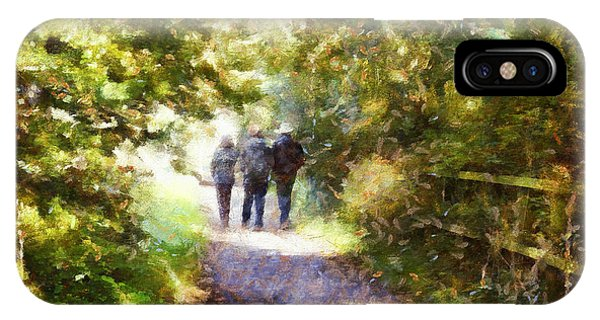 Strangers On A Footpath / In To The Light IPhone Case