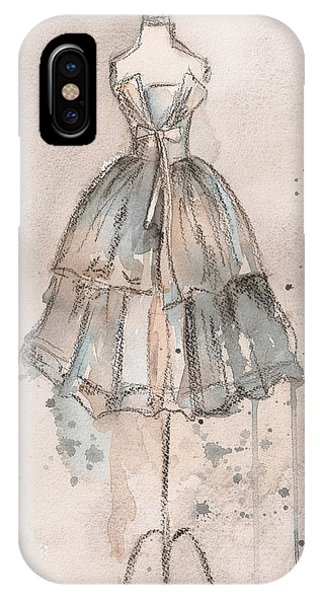 Strapless Champagne Dress IPhone Case
