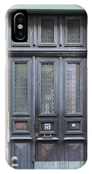Timeworn iPhone Case - Strasbourg Door 06 by Teresa Mucha
