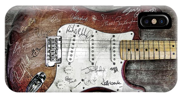 Eric Clapton iPhone Case - Strat Guitar Fantasy by Mal Bray