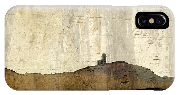 Strata With Lighthouse And Gull IPhone Case