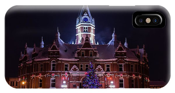 Stratford City Hall Christmas IPhone Case