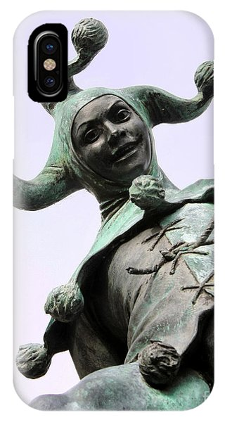 Stratford's Jester Statue IPhone Case