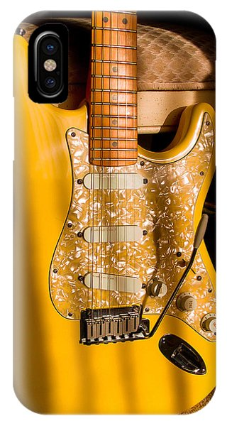 Stratocaster Plus In Graffiti Yellow IPhone Case