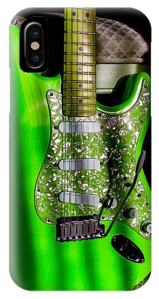 Stratocaster Plus In Green IPhone Case