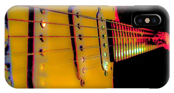 IPhone Case featuring the photograph Guitar Pop Art Hot Rasberry Fire Neck Series by Guitar Wacky