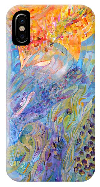IPhone Case featuring the painting Stratosphere by Linda Cull