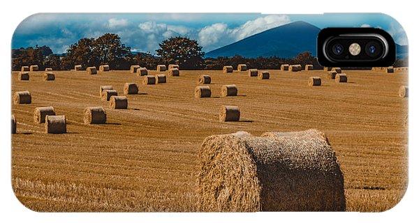 Straw Bale In A Field IPhone Case