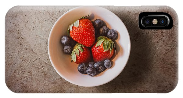 Fruit Bowl iPhone Case - Strawberries And Blueberries by Scott Norris