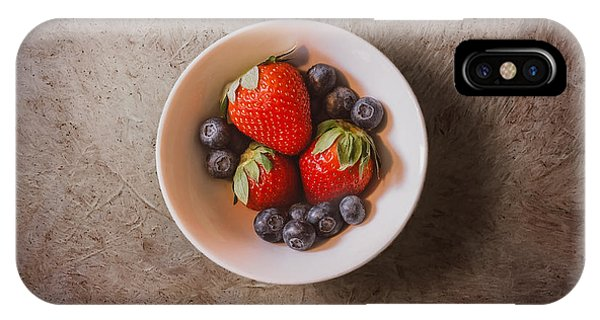 Blueberry iPhone Case - Strawberries And Blueberries by Scott Norris