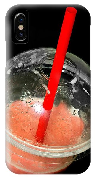 Smoothie iPhone Case - The Red Straw by Diana Angstadt