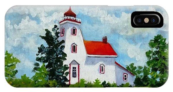 Strawberry Island Lighthouse, Manitoulin Island IPhone Case