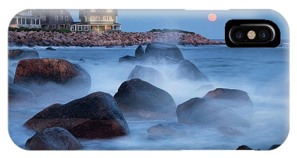 Strawberry Moon At Spray Rock IPhone Case