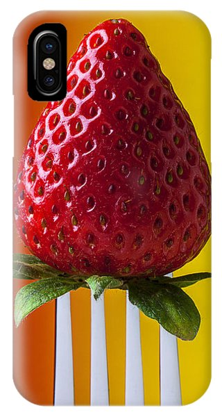 Strawberry On Fork IPhone Case