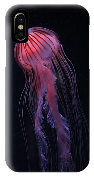 IPhone Case featuring the photograph Strawberry Pink Jellyfish - Extra Tall by Debi Dalio