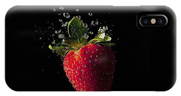 Strawberry Splash IPhone Case