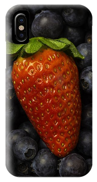 Blue Berry iPhone Case - Strawberry With Blueberries by Garry Gay