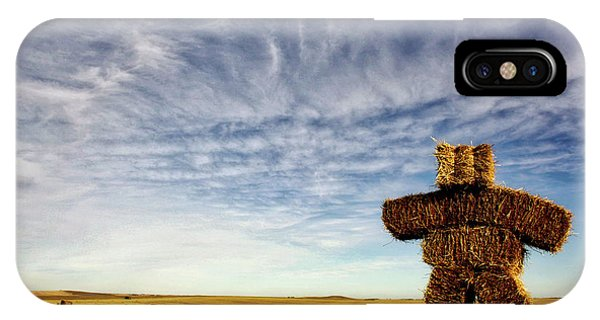 Strawman On The Prairies IPhone Case