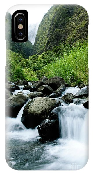 Stream Flowing From Iao Needle IPhone Case