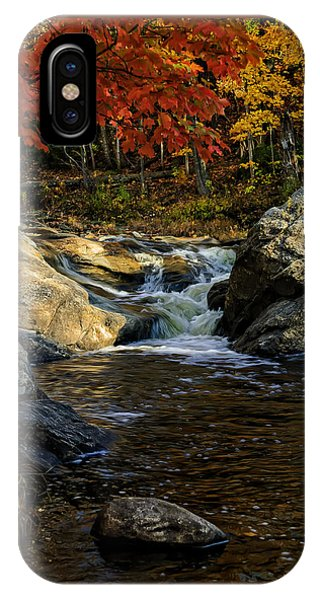 IPhone Case featuring the photograph Stream In Autumn No.17 by Mark Myhaver