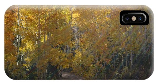 Streaming Light Paiute Trail Fremont Utah IPhone Case