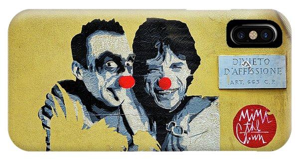 Street Art In The Trastevere Neighborhood In Rome Italy IPhone Case