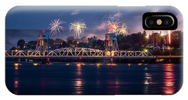 Street Fireworks By The Blue Bridge IPhone Case