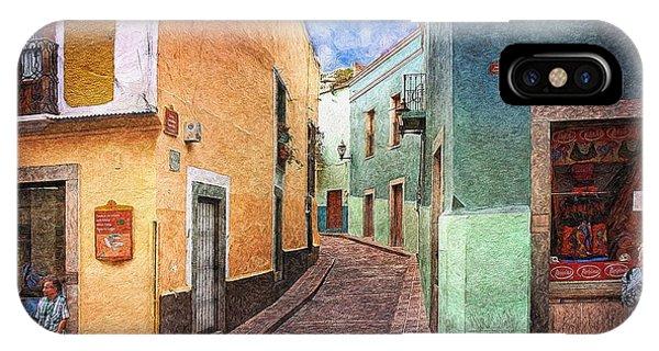 Street In Guanajuato IPhone Case