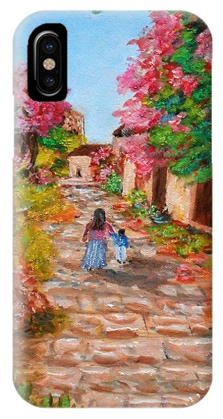 Street In Monemvasia IPhone Case