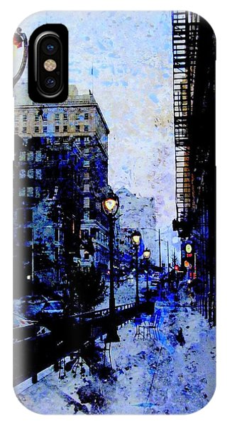Street Lamps Sidewalk Abstract IPhone Case