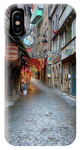 Street Le Mont Saint Michel IPhone Case