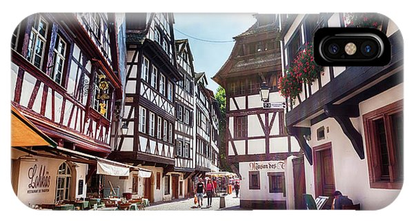 IPhone Case featuring the photograph street of Petit-France - part of old town, Strasbourg,  France,  by Ariadna De Raadt