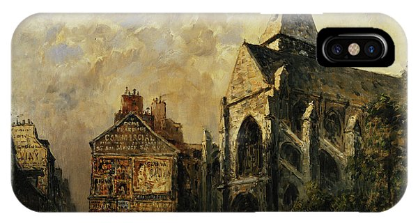 Imposing iPhone Case - Street Scene Behind The Saint Medard Church, Paris by Frank Myers Boggs