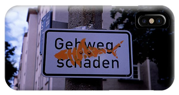 Street Sign With Graffiti IPhone Case